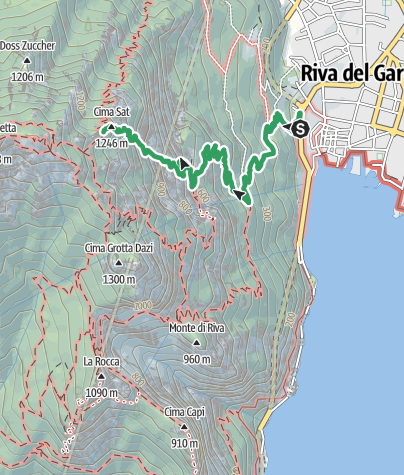 Map / Ferrata dell'Amicizia - Cima SAT