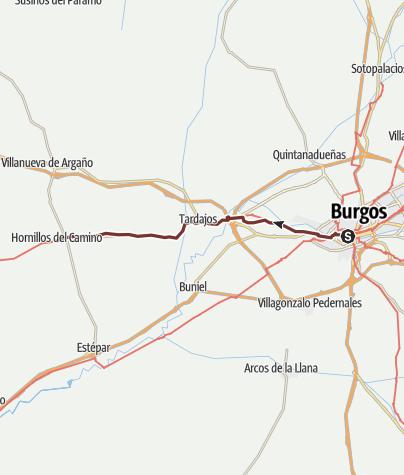 Cartina / Cammino francese. Tappa 13. Burgos - Hornillos del Camino