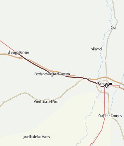 Cartina / Cammino francese. Tappa 19. Sahagún - El Burgo Ranero