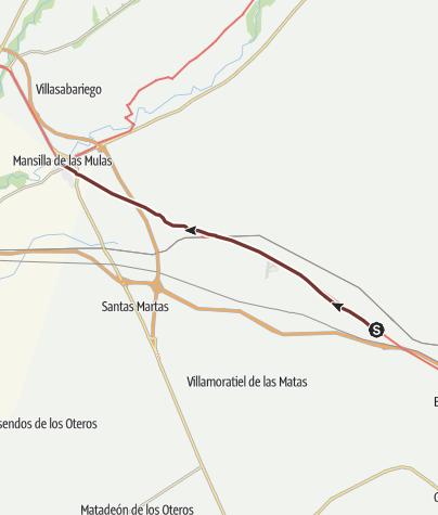 Cartina / Cammino francese. Tappa 20. El Burgo Ranero - Mansilla de las Mulas