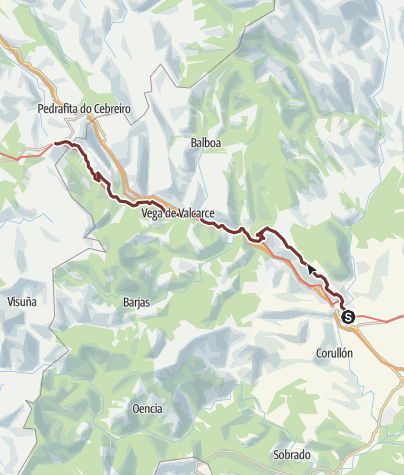 Cartina / Cammino francese. Tappa 27. Villafranca del Bierzo - O Cebreiro