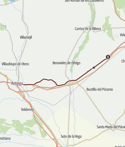 Cartina / Cammino francese. Tappa 23. Villadangos del Páramo - Astorga