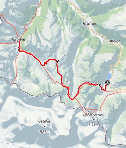 Karte / A6: Vom Vermuntsee nach Gargellen