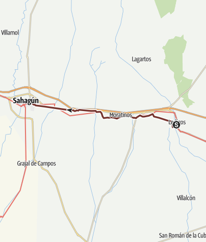 地图 / Französisch Route Etappe 18. Lédigos - Sahagún