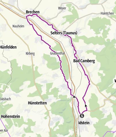 Karte / Radrundtour Ems- und Wörsbachtal