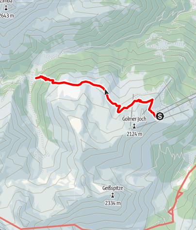 Karte / Vom Golm über die Platzisalpe ins Rellstal