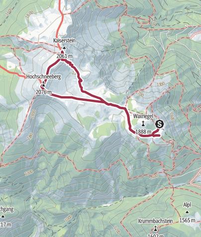 Karte / Plateauwanderung Hochschneeberg/ Klosterwappen