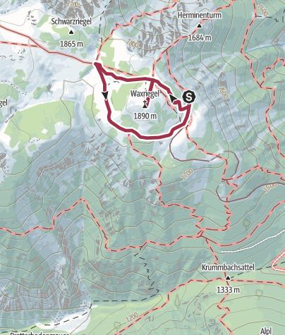 Karte / Paradies der Blicke – Hochschneeberg