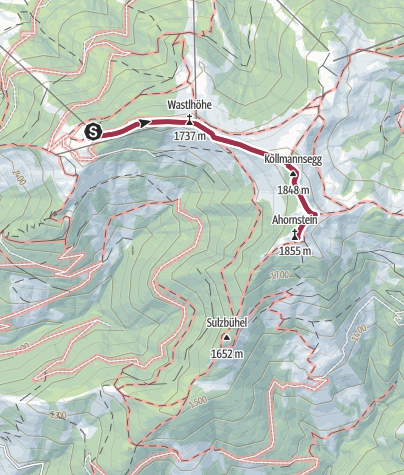 Karte / Königstreck mit Genuss in Dienten - AHORNSTEIN