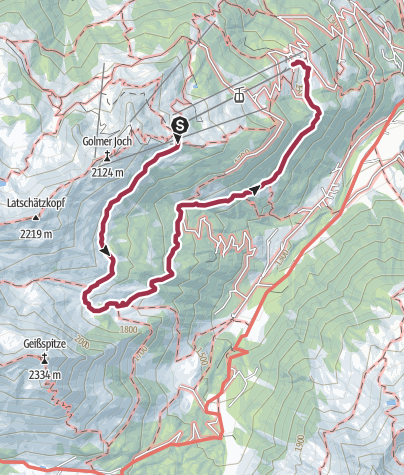Karte / Gauertaler AlpkulTour - die Maisäßtour