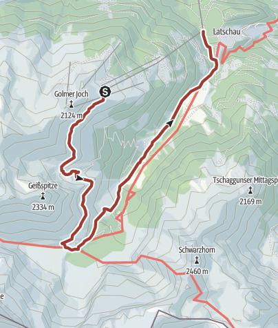 Karte / Gauertaler AlpkulTour - die Alptour