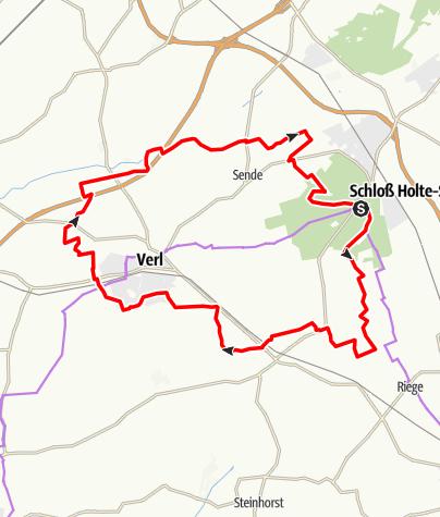 Karte / R21 Schloß Holte-Stukenbrock bis Verl