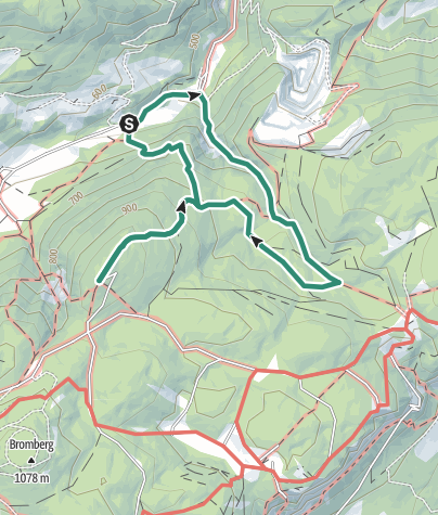 Karte / Hohe Wand - Waldeggerhaus von Waldegg über Große Klause