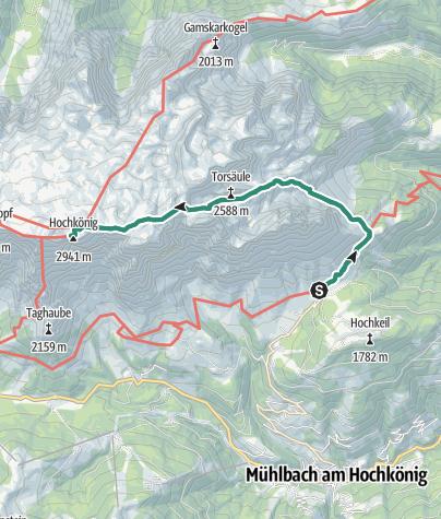 Map / Hochkönig main increase