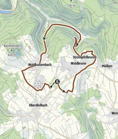 Karte / Mountainbike-Rundkurs Waldbrunn