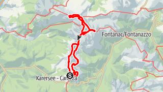 Map / Anspruchsvolle Klettersteig-Hüttentour durch den Rosengarten