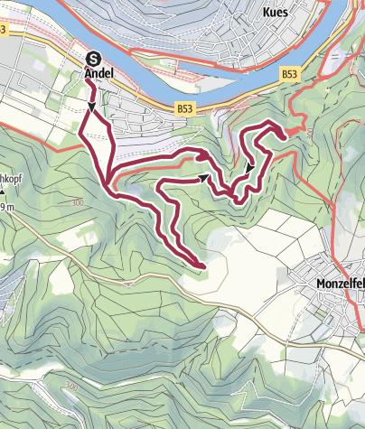 Karte / Goldbachtal-Höhenweg in Bernkastel-Andel an der Mosel