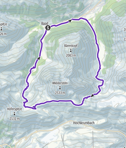 Karte / Widderstein Trail