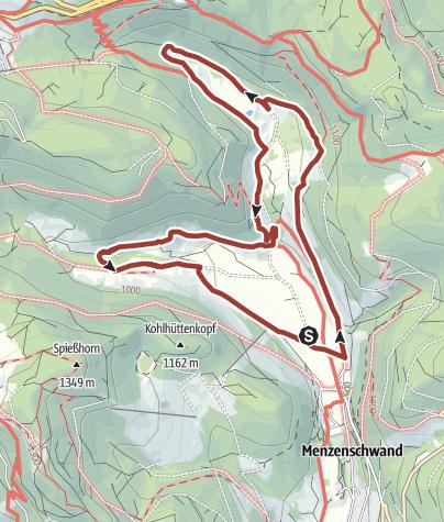 Karte / Genießerpfad - Menzenschwander Geißenpfad