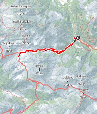 Karte / Vom Landsteg zur Biberacher Hütte