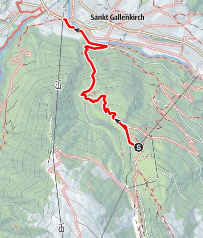 Karte / Worzaweg (nur für Geübte)