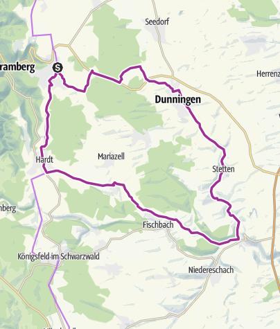 Karte / Schramberg-Sulgen - Von Schramberg zur Eschach