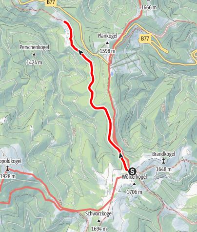 Karte / Römerweg - Vom Alten Almhaus zum Stüblergut