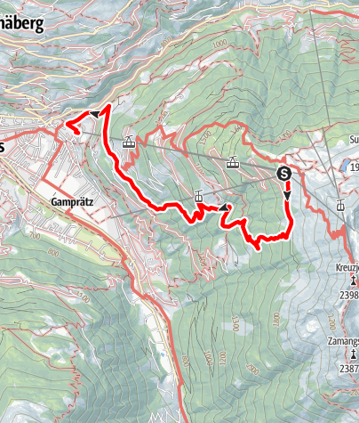 Karte / Kapell - Lifinar - Schruns