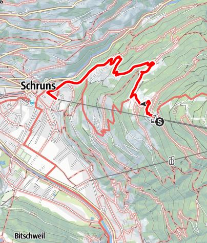 Karte / Kropfen - Hoha - Brif - Schruns