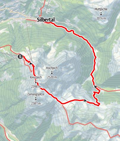 Karte / Hochjoch - Alpguesalpe - Silbertal