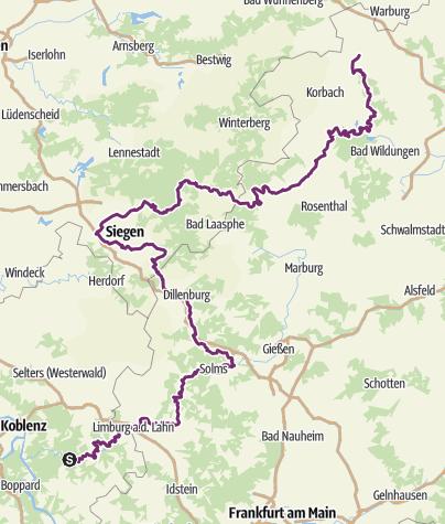 Karte / Oranier-Fahrrad-Route