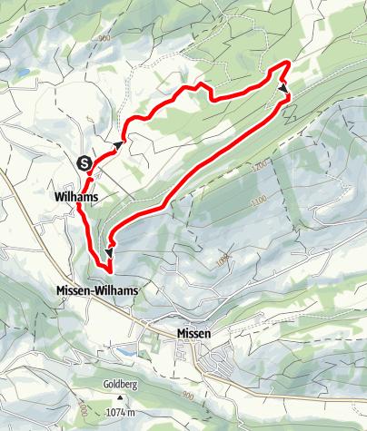 Karte / Wilhams Parkplatz - Schrofen - Wilhams Parkplatz