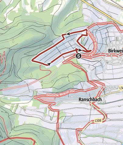 Karte / Birkweiler - WeinBruch Kastanienbusch