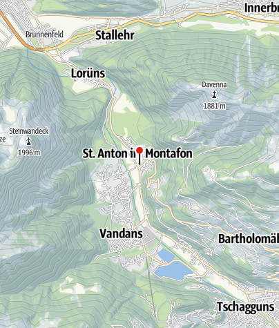 Karte / Ferienwohnung Battlogg