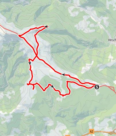 Karte / 7-Almhüttenwanderung Variante 1