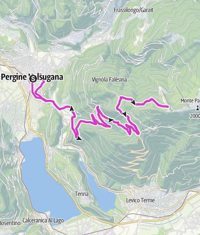 Kaart / Levico Terme/Pergine Valsugana - Panarotta