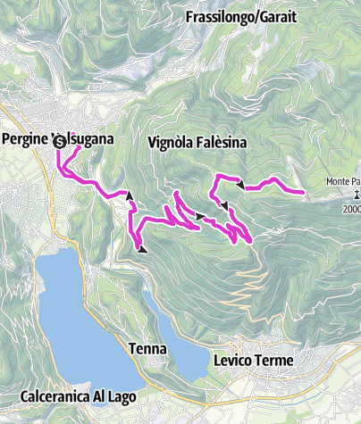 Cartina / Levico Terme/Pergine Valsugana - Panarotta