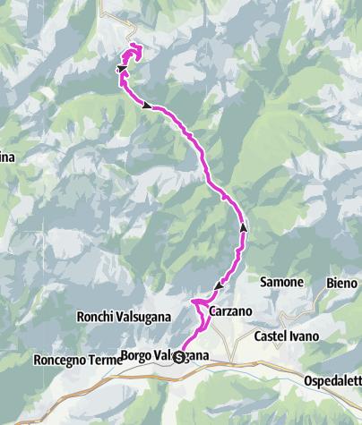 Cartina / Borgo Valsugana - Passo Manghen