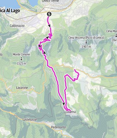 Kaart / Levico Terme - Passo Vezzena