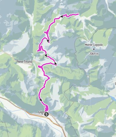 Cartina / Grigno - Passo Brocon