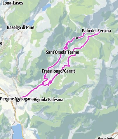 Kaart / Pergine Valsugana - Val dei Mocheni