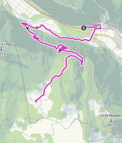 Cartina / Grigno - Altopiano della Marcesina