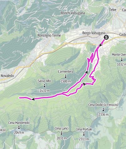 Cartina / Borgo Valsugana - Val di Sella
