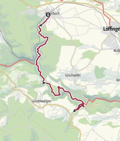 Karte / Durch drei wilde Schluchten im Schwarzwald