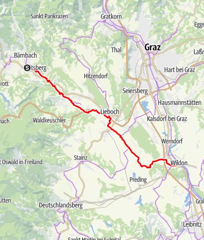 Karte / R14: Kainachtalradweg