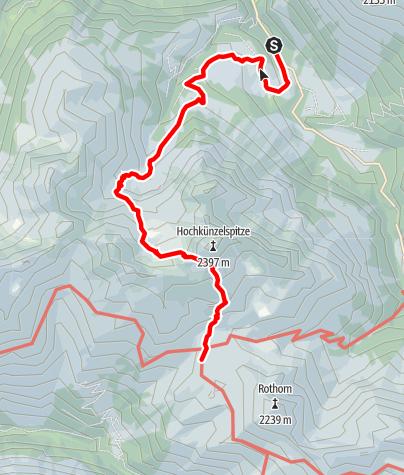 Karte / Glattjöchle - Zustieg zur Biberacher Hütte