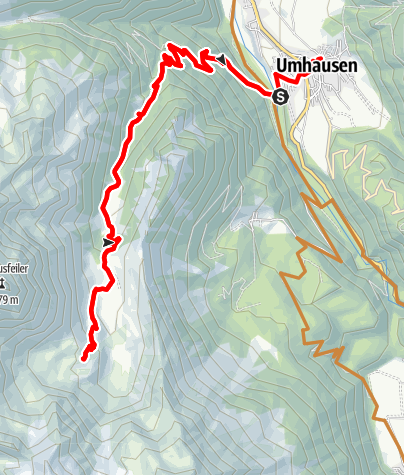 Map / Bike Route - Frischmannhütte