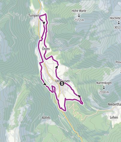 Map / Radroute - Umhauser Runde