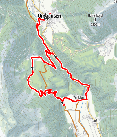 Karte / Biketour Köfels – Wurzberg (695)