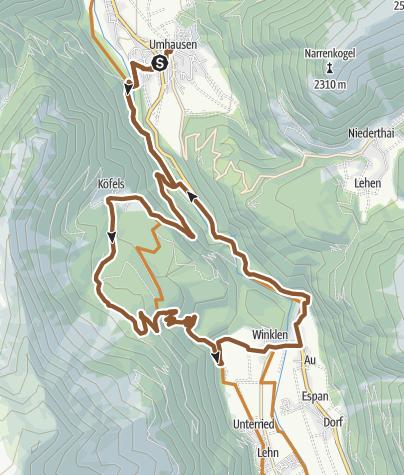 Map / Biketour Köfels – Wurzberg (695)